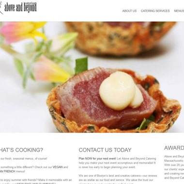 Above and Beyond Catering wedding vendor preview
