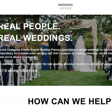 Contagious Events wedding vendor preview