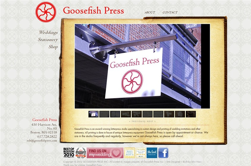 Goosefish Press - Boston wedding invitations