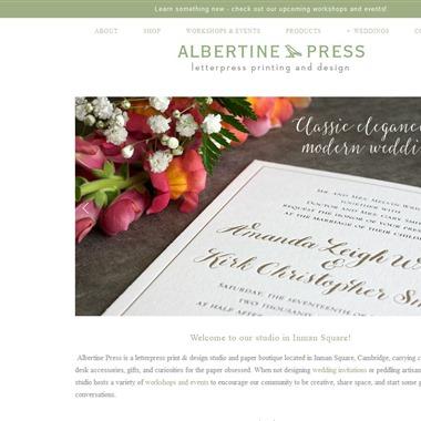 Albertine Press wedding vendor preview