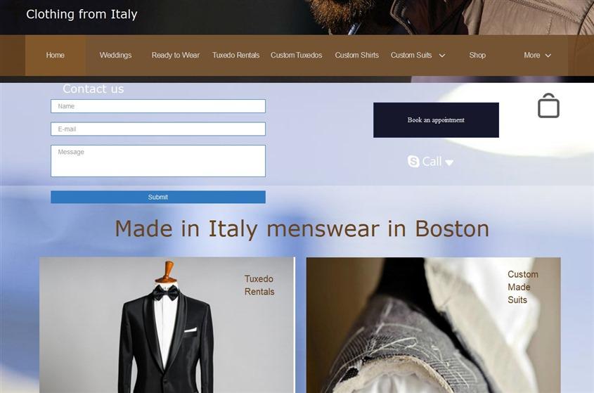 Clothing from Italy wedding vendor photo