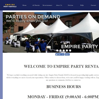 Empire Party Rentals wedding vendor preview