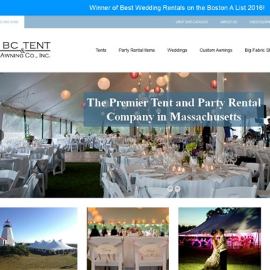BC Tent & Awning wedding vendor preview