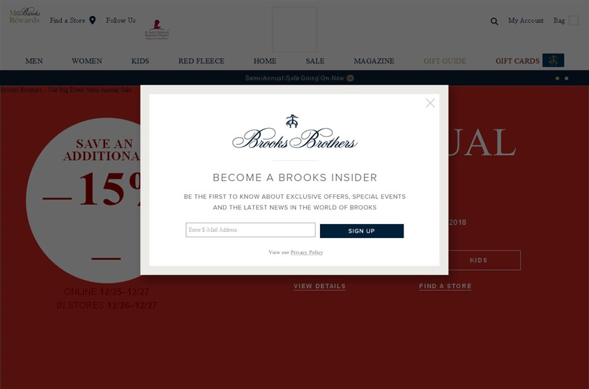 Brooks Brothers wedding vendor photo