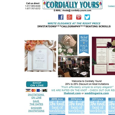 Cordially Yours Invitations wedding vendor preview