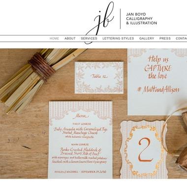 Jan Boyd Calligraphy wedding vendor preview