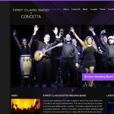 First Class Band and Concetta wedding vendor preview