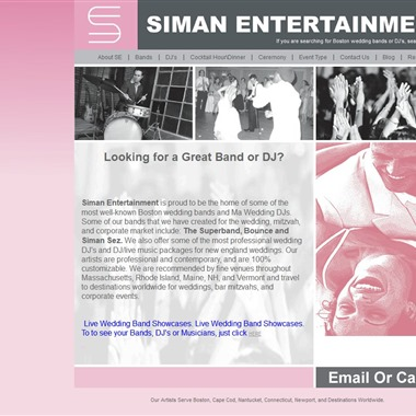 Siman Entertainment wedding vendor preview
