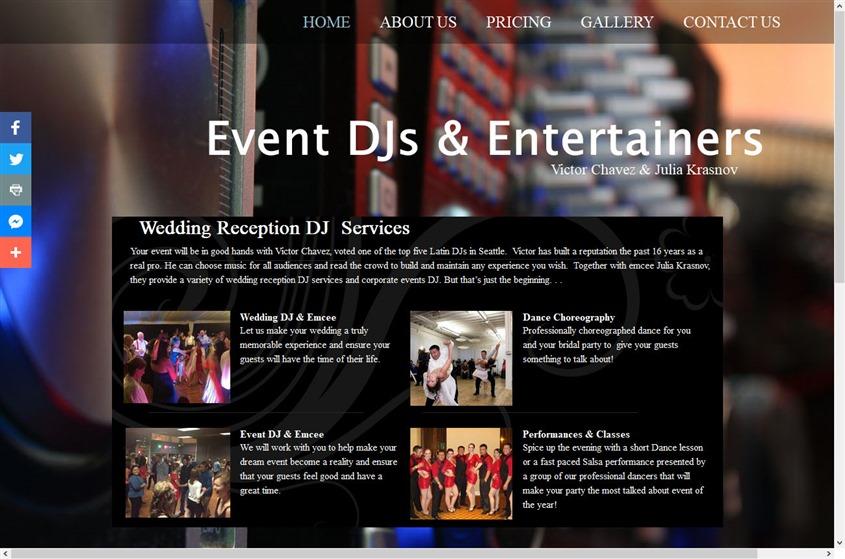 Event DJs & Entertainers | Victor Chavez&Julia Krasnov  wedding vendor photo