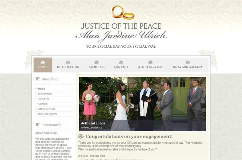 Justice of the Peace wedding vendor photo