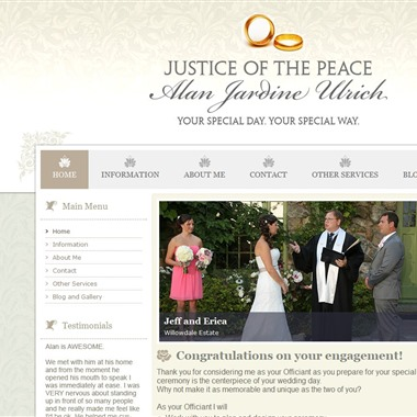 Justice of the Peace wedding vendor preview