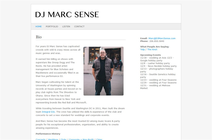 DJ Marc Sense - Seattle wedding DJ