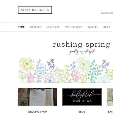 Paper Delights wedding vendor preview