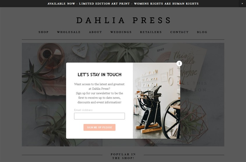 Dahlia Press wedding vendor photo