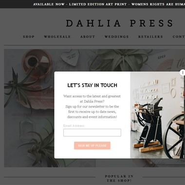 Dahlia Press wedding vendor preview
