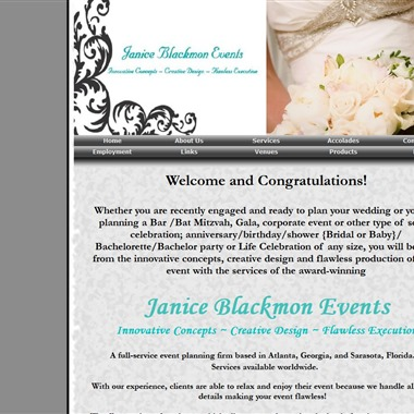 Janice Blackmon Events wedding vendor preview