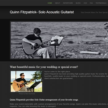 Quinn Fitzpatrick | Solo Acoustic Guitarist wedding vendor preview