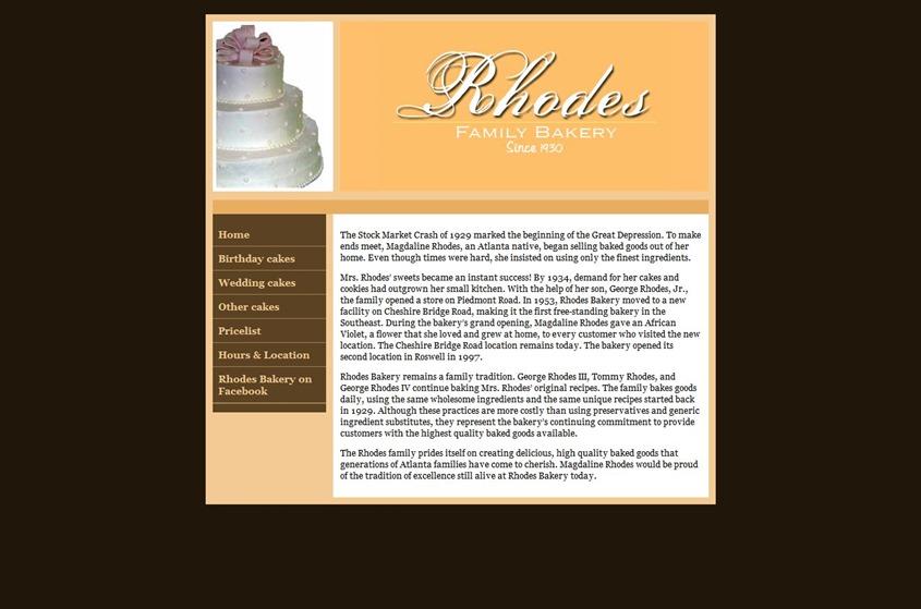 Rhodes Bakery wedding vendor photo