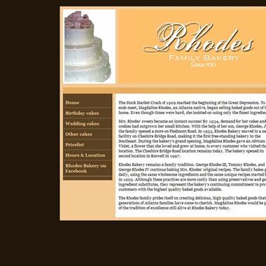 Rhodes Bakery wedding vendor preview