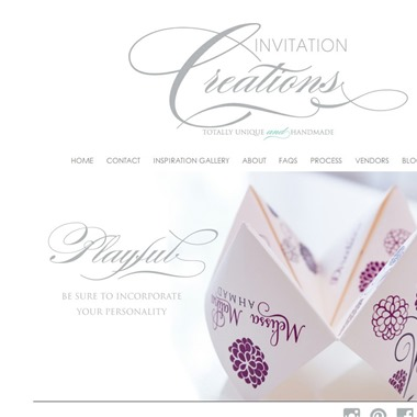 Invitation Creations wedding vendor preview