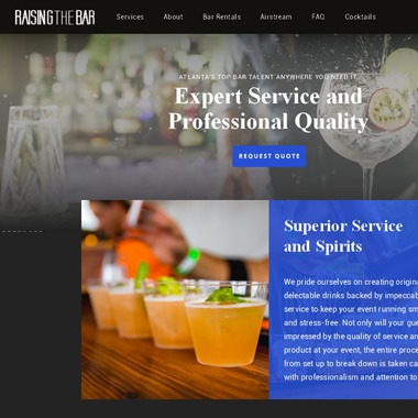 Raising The Bar wedding vendor preview