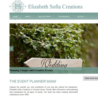 Event Planner Miami By Elizabeth Sofia Creations wedding vendor preview