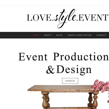 Love. Style. Events. wedding vendor preview