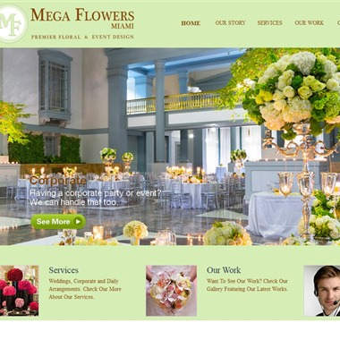Mega Flowers Miami wedding vendor preview