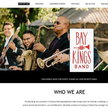 Baykings Band wedding vendor preview