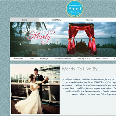 Weddings by Marty wedding vendor preview