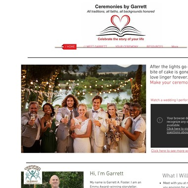 Ceremonies by Garrett wedding vendor preview