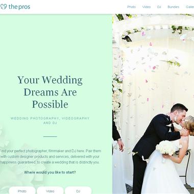 The Pros wedding vendor preview