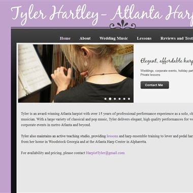 Tyler Hartley Atlanta Harpist wedding vendor preview