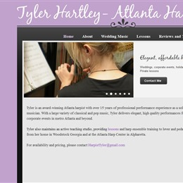 Tyler Hartley Atlanta Harpist photo