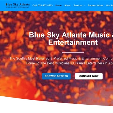 Blue Sky Atlanta Music & Entertainment wedding vendor preview