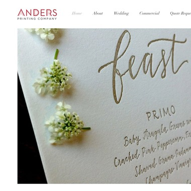 Anders Printing Co wedding vendor preview