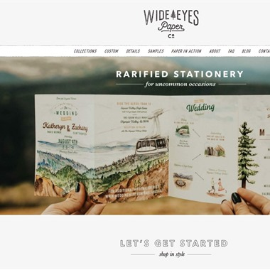 Wide Eyes Paper Co wedding vendor preview