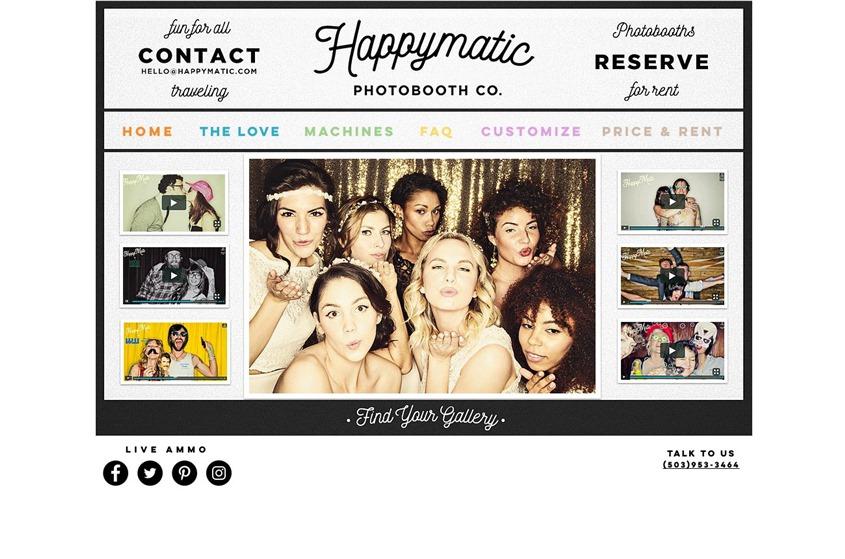 Happymatic Photobooth Co. wedding vendor photo