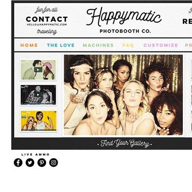 Happymatic Photobooth Co. wedding vendor preview