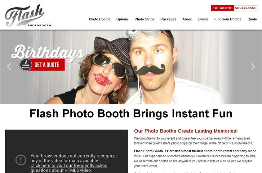 Flash Photo Booth wedding vendor photo