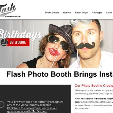 Flash Photo Booth wedding vendor preview