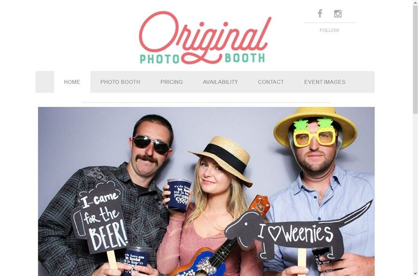 The Original Photo Booth wedding vendor photo