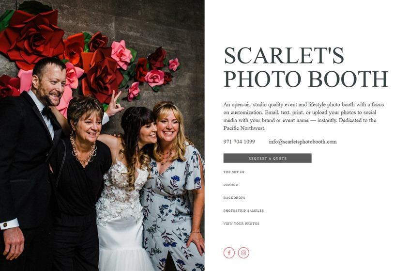 Scarlet's Photo Booth wedding vendor photo