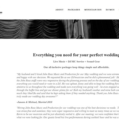 John Ross Music and Production wedding vendor preview