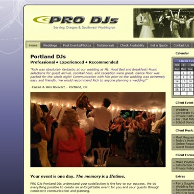 PRO DJs Portland wedding vendor preview