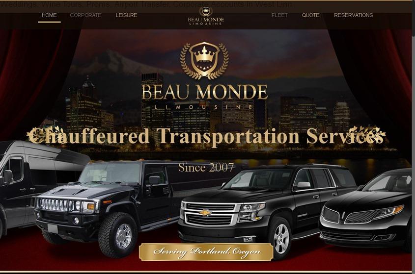 Beau Monde Limo and Town Car service wedding vendor photo