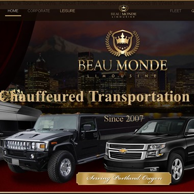 Beau Monde Limo and Town Car service wedding vendor preview