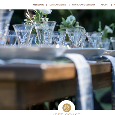 Left Coast Catering  wedding vendor preview