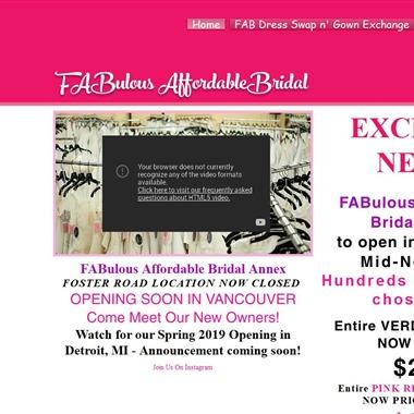 FABulous Affordable Bridal wedding vendor preview