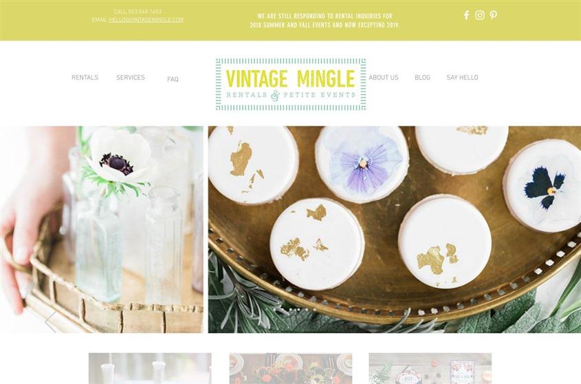 Vintage Mingle Rentals and Petite Events wedding vendor photo